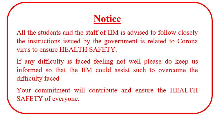 Special Notice for all students and staff