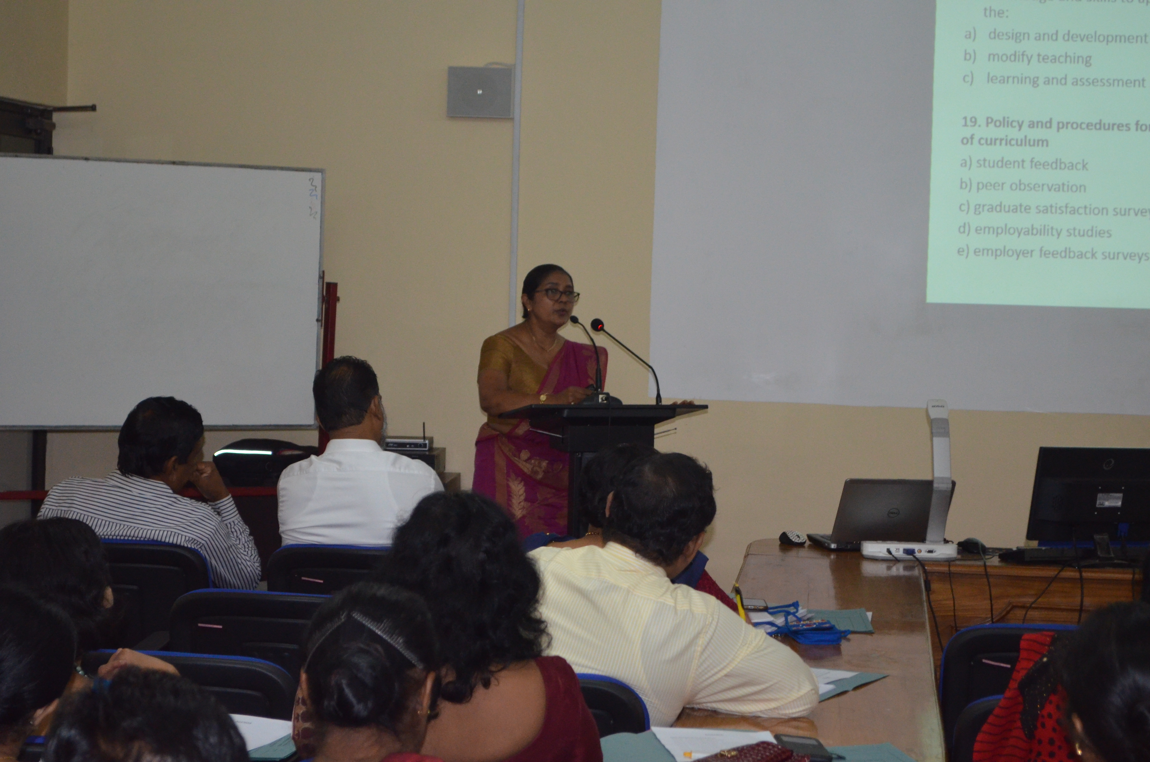 WORKSHOP ON QUALITY ASSURANCE