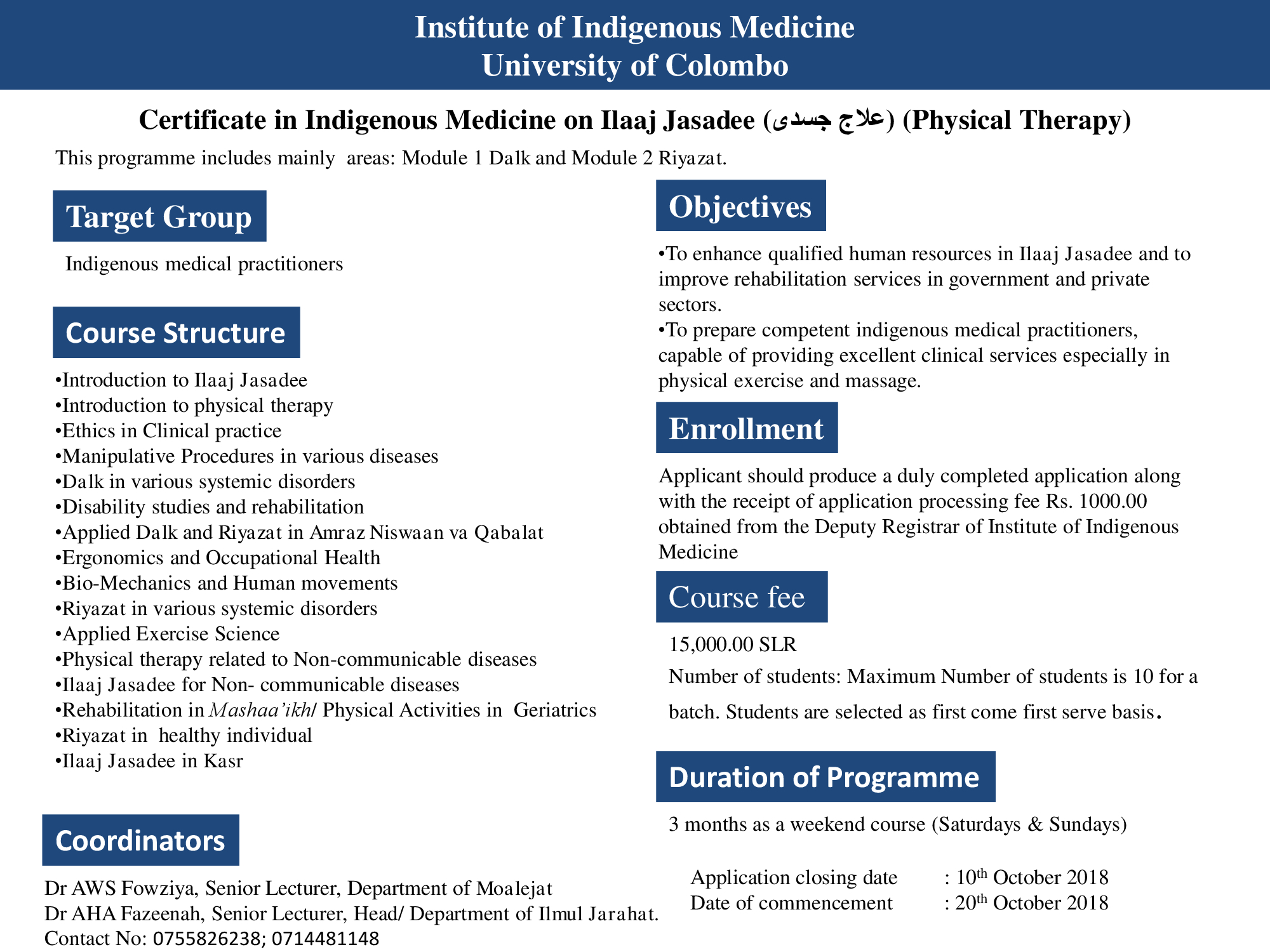 Certificate in Indigenous Medicine on Ilaaj Jasadee (جسدی علاج) (Physical Therapy)