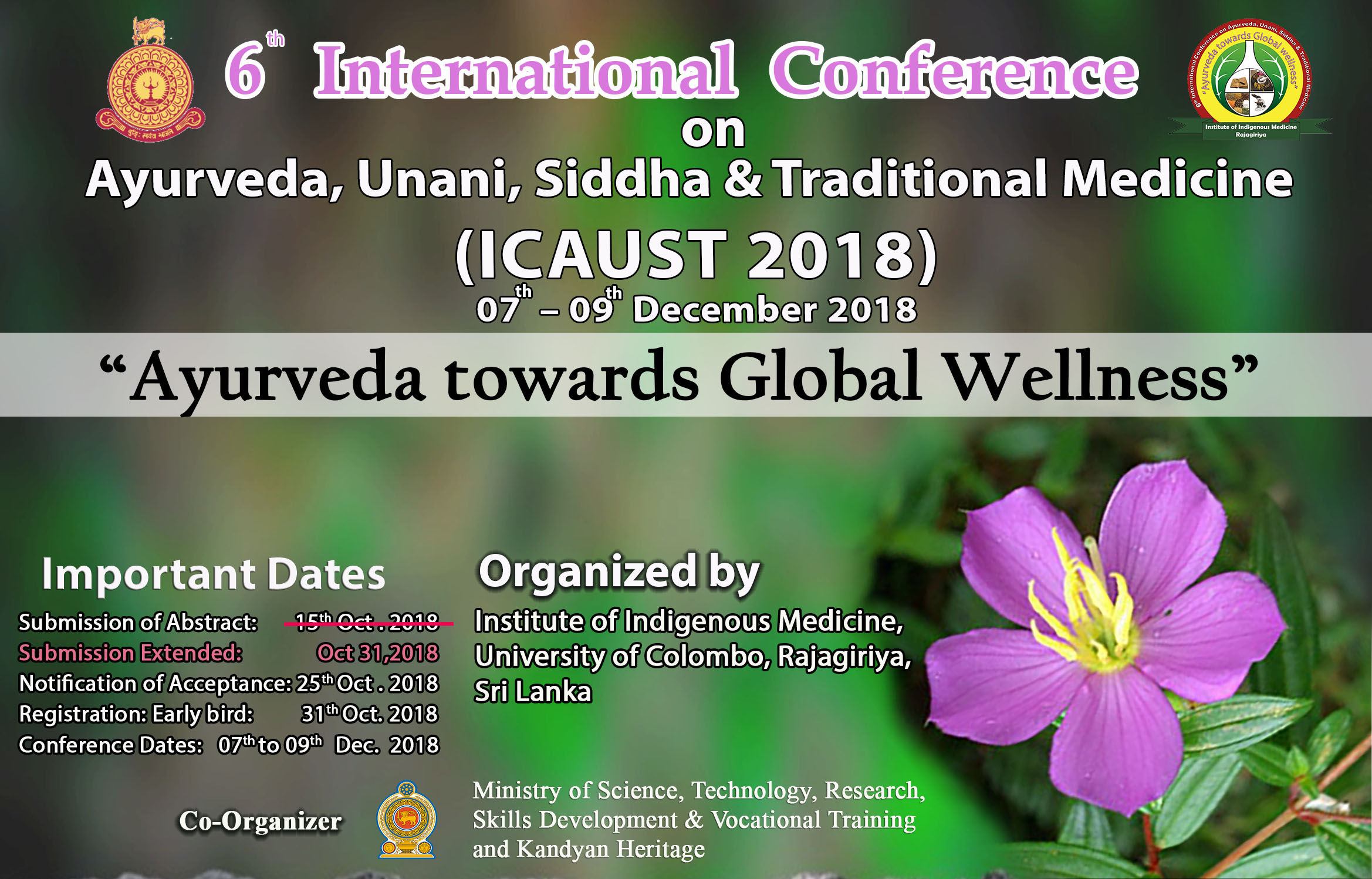 ICAUST 2018-Abstract submission deadline extended