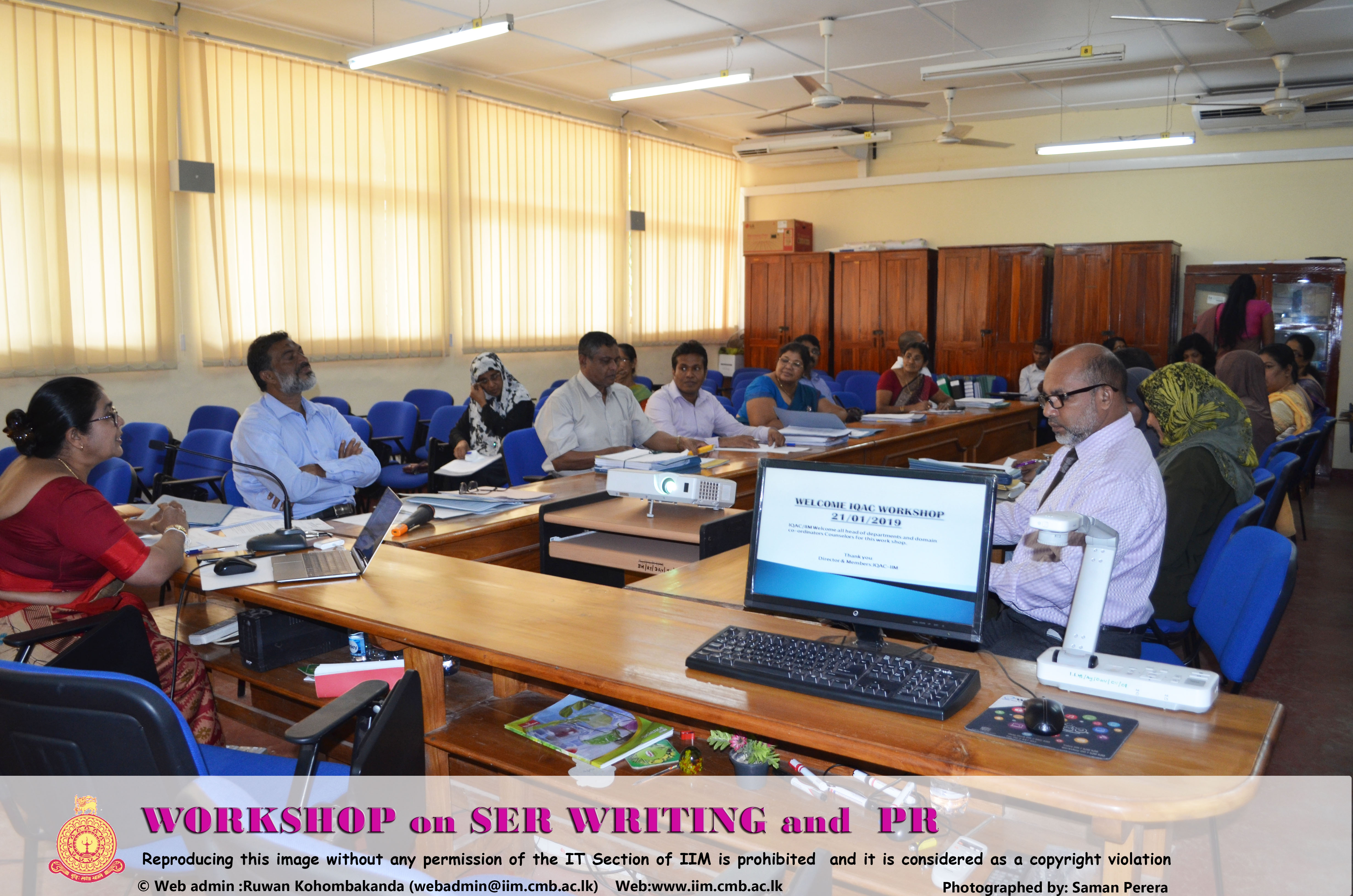 WORKSHOP on SER WRITING and  PR