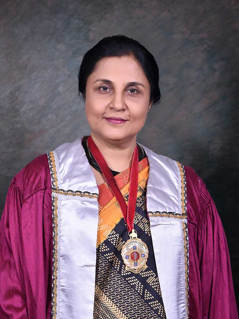 Newly appointed Vice-Chancellor Senior Professor Chandrika N Wijeyaratne