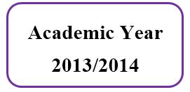 Master Academic Schedule For Academic Year 2013/2014