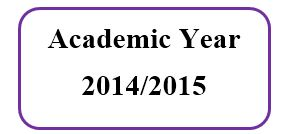 Master Academic Schedule For Academic Year 2014/2015