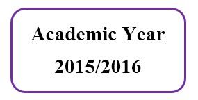 Master Academic Schedule For Academic Year 2015/2016
