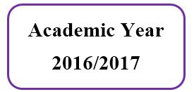 Master Academic Schedule For Academic Year 2016/2017