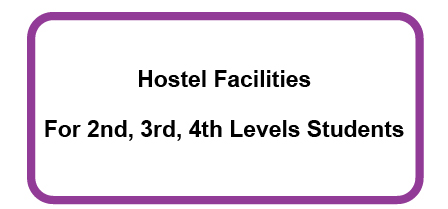 Notice-Hostel Facilities For 2nd, 3rd, 4th Levels Students