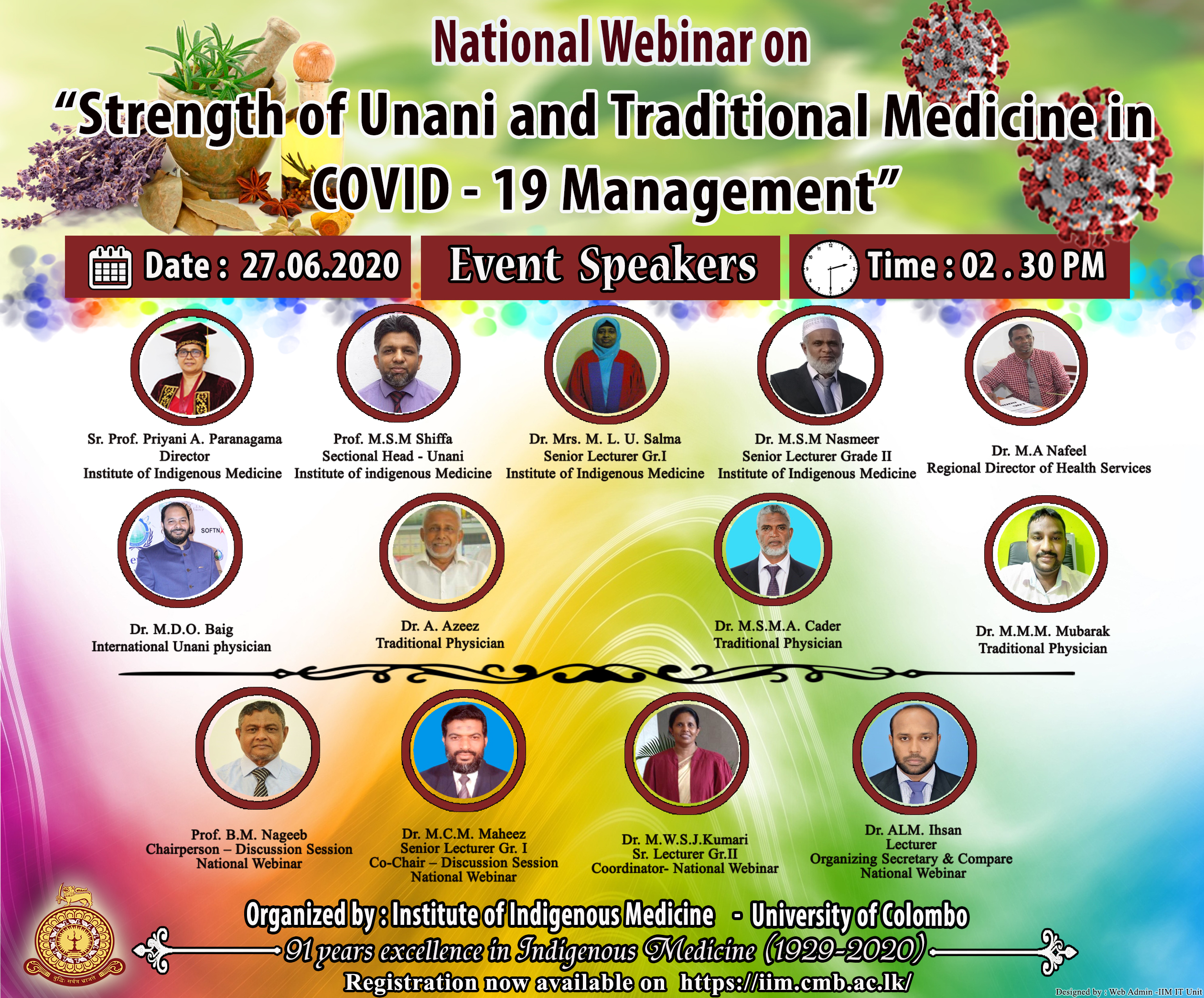 """National Webinar on """"Strength of Unani and Traditional Medicine in COVID -19 Management"""""""