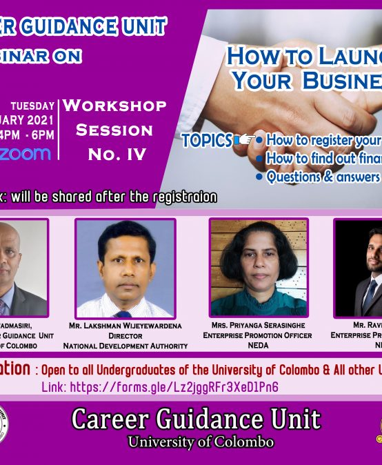 Webinar on: How to Launch Your Business