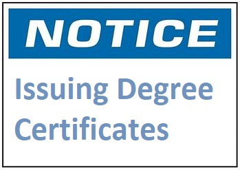 Issuing Degree Certificates