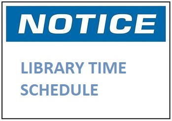 Library Time Schedule