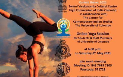 Yoga Session : organize by CGU Jointly with Centre for Contemporary Indian Studies (CCIS) University of Colombo